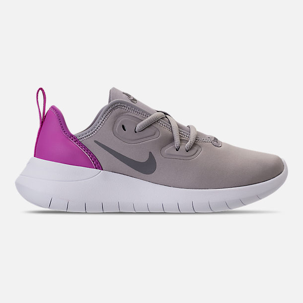 Right view of Girls' Preschool Nike Hakata Casual Shoes in Atmosphere Grey/Gunsmoke/Hyper Magenta