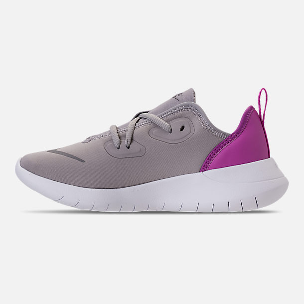 Left view of Girls' Preschool Nike Hakata Casual Shoes in Atmosphere Grey/Gunsmoke/Hyper Magenta