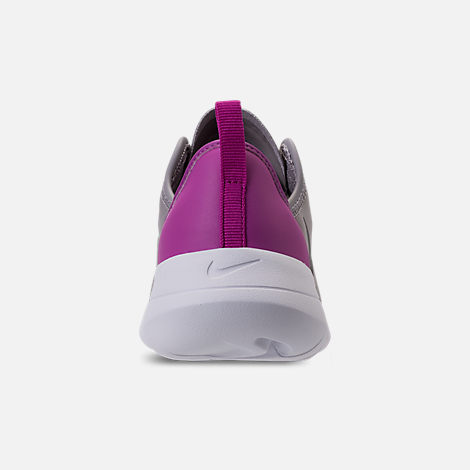 Back view of Girls' Preschool Nike Hakata Casual Shoes in Atmosphere Grey/Gunsmoke/Hyper Magenta