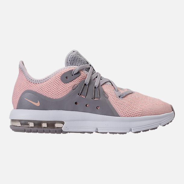 Right view of Girls' Preschool Nike Air Max Sequent 3 Running Shoes