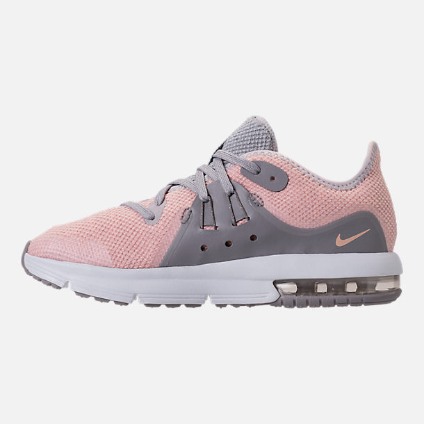 Left view of Girls' Preschool Nike Air Max Sequent 3 Running Shoes