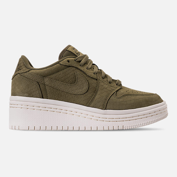 Right view of Women's Air Jordan Retro 1 Low Lifted Casual Shoes in Olive