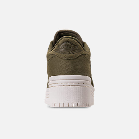 Back view of Women's Air Jordan Retro 1 Low Lifted Casual Shoes in Olive