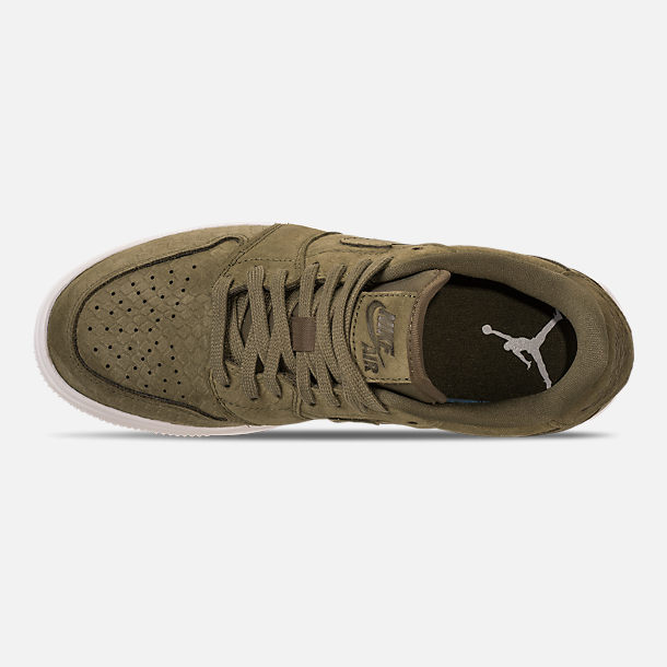 Top view of Women's Air Jordan Retro 1 Low Lifted Casual Shoes in Olive