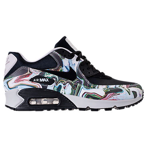 WOMEN'S AIR MAX 90 MARBLE RUNNING SHOES, BLACK