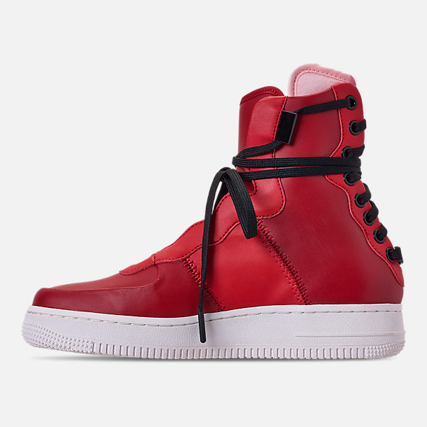 Left view of Women's Nike Air Force 1 Rebel XX Casual Shoes in Gym Red/Arctic Pink/Summit White
