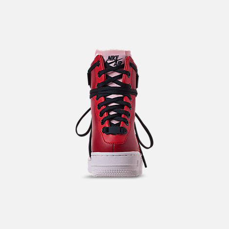 Back view of Women's Nike Air Force 1 Rebel XX Casual Shoes in Gym Red/Arctic Pink/Summit White