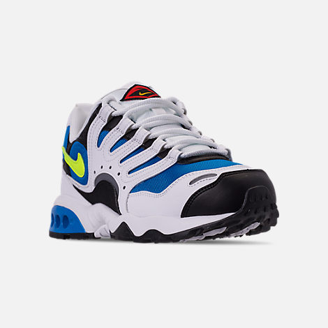 Three Quarter view of Men's Nike Air Terra Humara '18 Casual Shoes in White/Volt/Photo Blue/Black/Wolf Grey