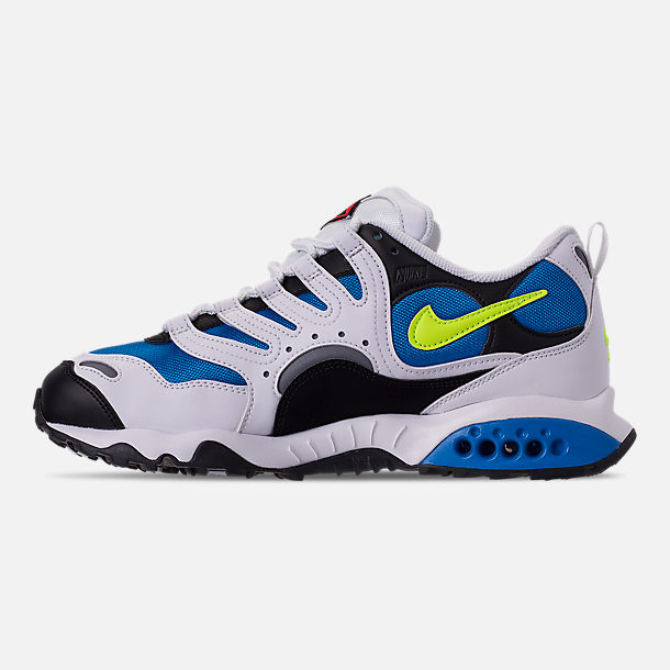 Left view of Men's Nike Air Terra Humara '18 Casual Shoes in White/Volt/Photo Blue/Black/Wolf Grey