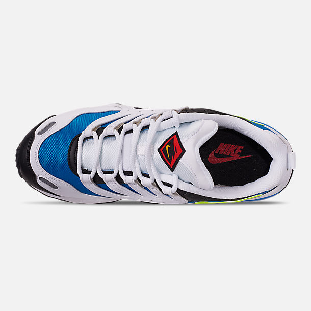 Top view of Men's Nike Air Terra Humara '18 Casual Shoes in White/Volt/Photo Blue/Black/Wolf Grey