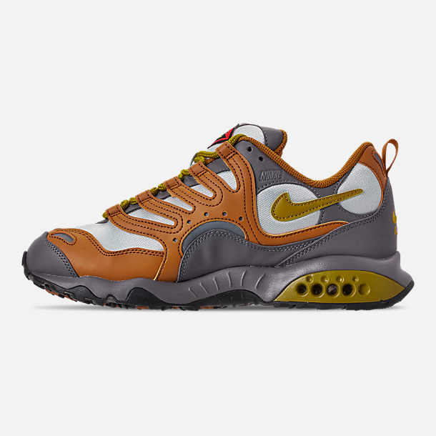 Left view of Men's Nike Air Terra Humara '18 Casual Shoes in Desert Ochre/Dark Citron/Barely Grey