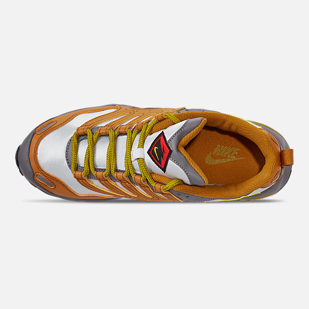 Top view of Men's Nike Air Terra Humara '18 Casual Shoes in Desert Ochre/Dark Citron/Barely Grey