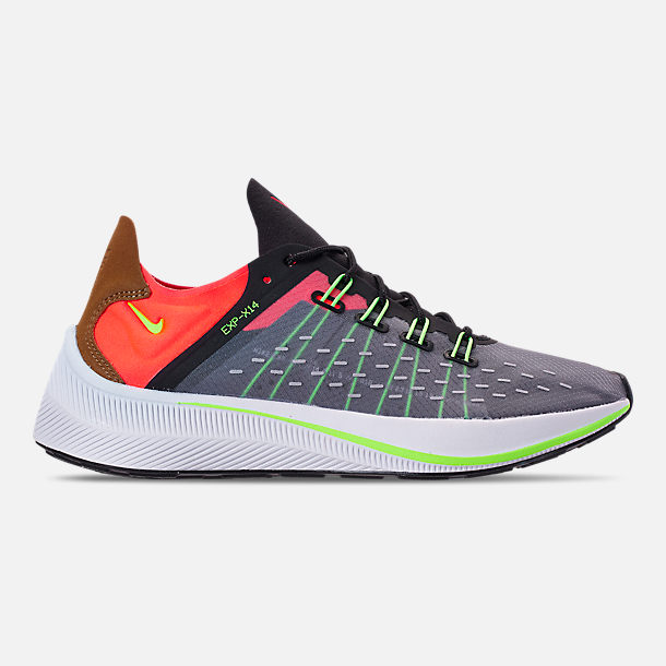 Right view of Men's Nike EXP-X14 Casual Shoes in Black/Volt/Total Crimson/Dark Grey