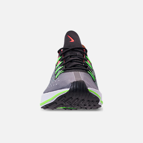 Front view of Men's Nike EXP-X14 Casual Shoes in Black/Volt/Total Crimson/Dark Grey