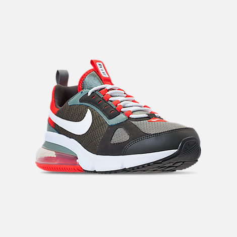 Three Quarter view of Men's Nike Air Max 270 Futura Casual Shoes in Dark Stucco/White/Newsprint