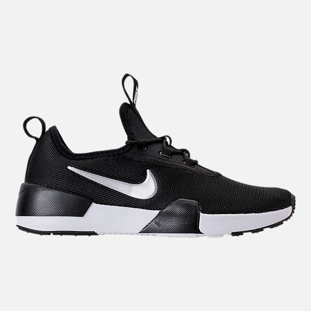 Right view of Boys' Big Kids' Nike Ashin Modern Casual Shoes in Black/Metallic Silver/White