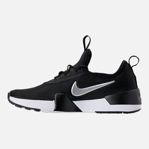 Left view of Boys' Big Kids' Nike Ashin Modern Casual Shoes in Black/Metallic Silver/White