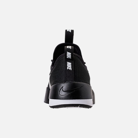 Back view of Boys' Grade School Nike Ashin Modern Casual Shoes in Black/Metallic Silver/White