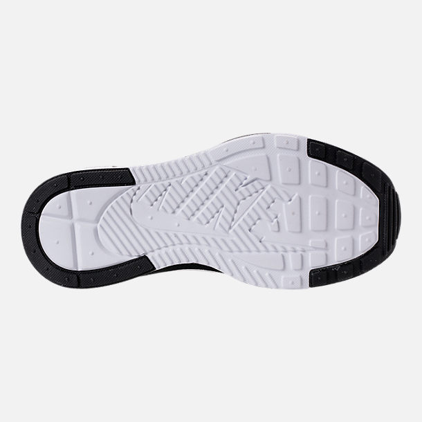 Bottom view of Boys' Big Kids' Nike Ashin Modern Casual Shoes in Black/Metallic Silver/White