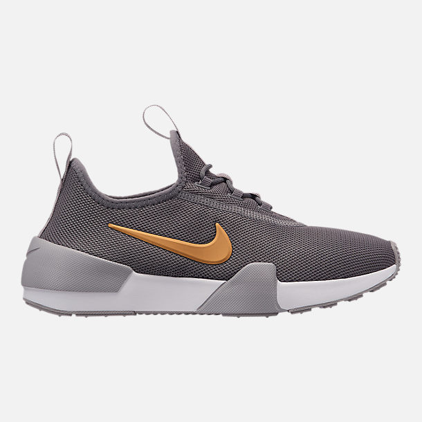 Right view of Girls' Grade School Nike Ashin Modern Casual Shoes in Gunsmoke/Metallic Gold/Atmosphere Grey