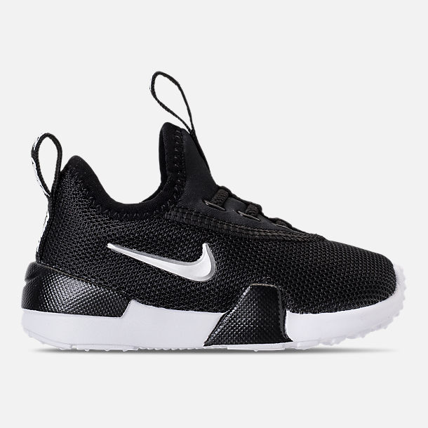 Right view of Boys' Toddler Nike Ashin Modern Casual Shoes in Black/Metallic Silver/White