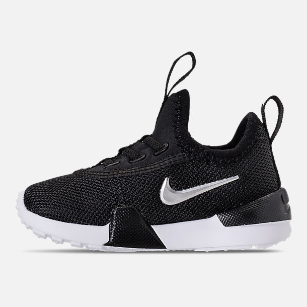 Left view of Boys' Toddler Nike Ashin Modern Casual Shoes in Black/Metallic Silver/White