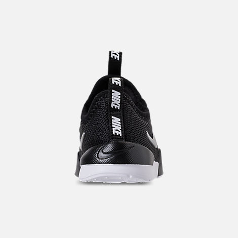 Back view of Boys' Toddler Nike Ashin Modern Casual Shoes in Black/Metallic Silver/White