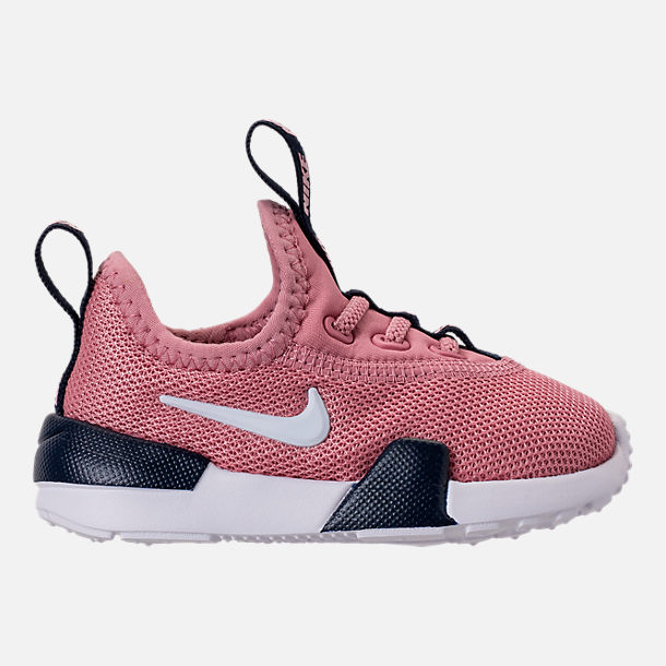 Right view of Girls' Toddler Nike Ashin Modern Running Shoes in Elemental Pink/White/Blackened Blue