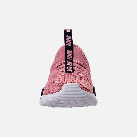 Front view of Girls' Toddler Nike Ashin Modern Running Shoes in Elemental Pink/White/Blackened Blue