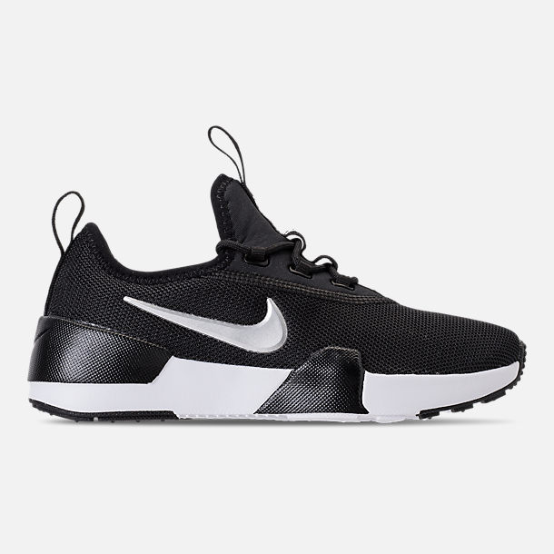 Right view of Boys' Preschool Nike Ashin Modern Casual Shoes in Black/Metallic Silver/White