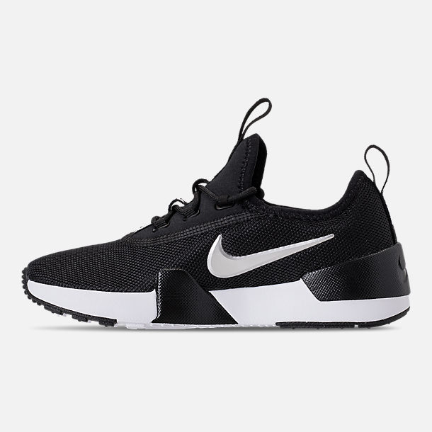 Left view of Boys' Little Kids' Nike Ashin Modern Casual Shoes in Black/Metallic Silver/White