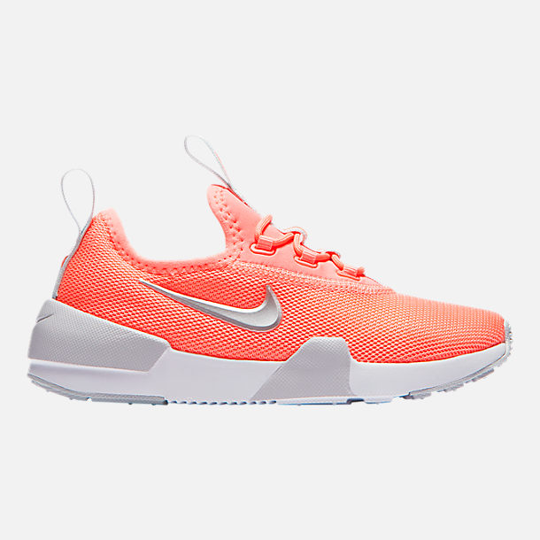 Right view of Girls' Little Kids' Nike Ashin Modern Casual Shoes in Light Atomic Pink/Metallic Silver