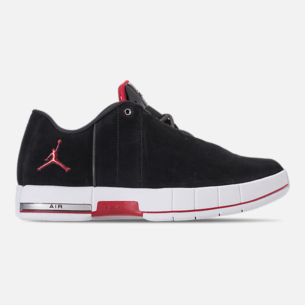Right view of Men's Air Jordan Team Elite 2 Low Basketball Shoes in Black/Gym Red/White