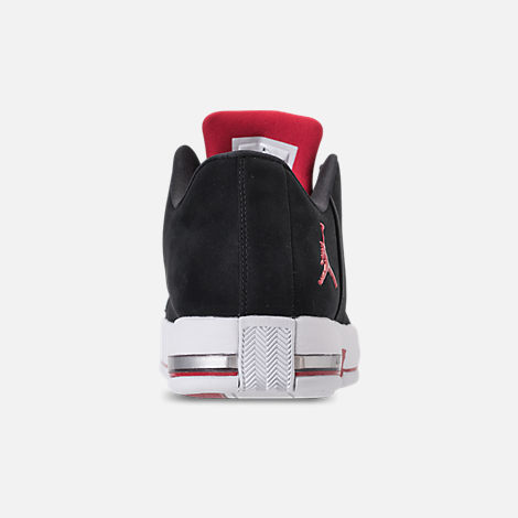 Back view of Men's Air Jordan Team Elite 2 Low Basketball Shoes in Black/Gym Red/White