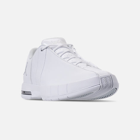 3ada3b0f70650e Three Quarter view of Men s Air Jordan Team Elite 2 Low Basketball Shoes in  White