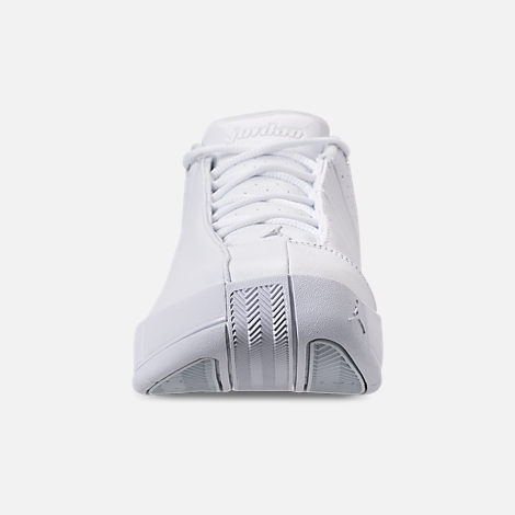 8758d3f8ef0f Front view of Men s Air Jordan Team Elite 2 Low Basketball Shoes in  White Pure