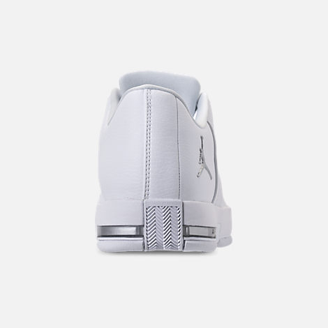 Back view of Men s Air Jordan Team Elite 2 Low Basketball Shoes in  White Pure a1f9435dd