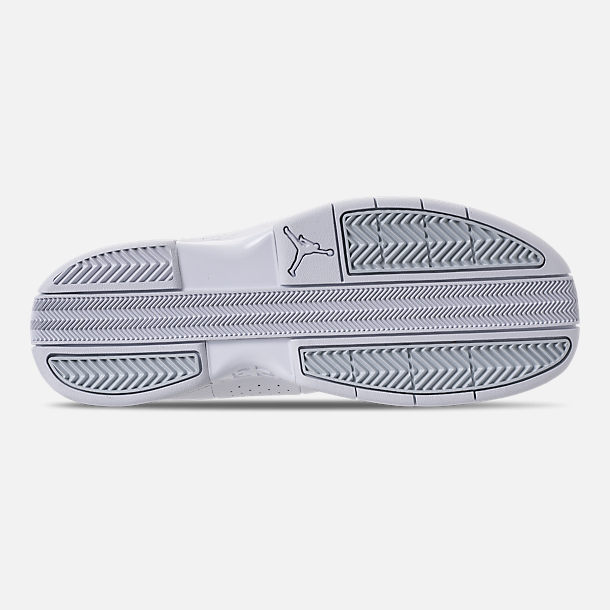 ad9cca2afca09b Bottom view of Men s Air Jordan Team Elite 2 Low Basketball Shoes in  White Pure