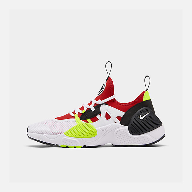 Right view of Men's Nike Huarache E.D.G.E. TXT Running Shoes in White/University Red/Volt/Black
