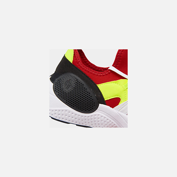 Front view of Men's Nike Huarache E.D.G.E. TXT Running Shoes in White/University Red/Volt/Black