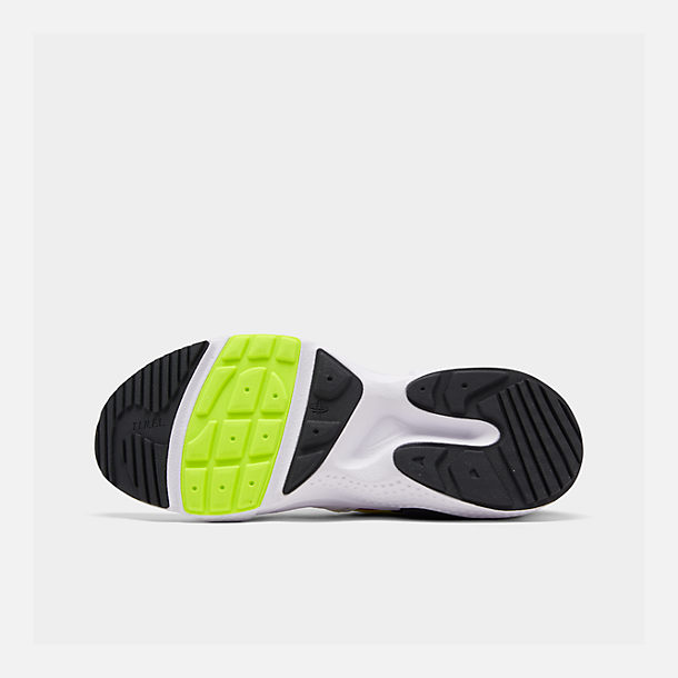 Bottom view of Men's Nike Huarache E.D.G.E. TXT Running Shoes in White/University Red/Volt/Black