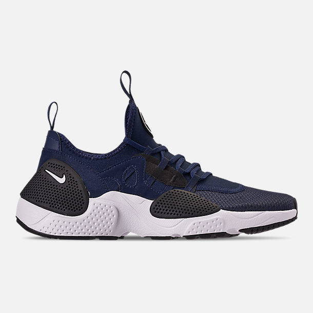 Right view of Men's Nike Huarache E.D.G.E. TXT Running Shoes in Midnight Navy/White/Black