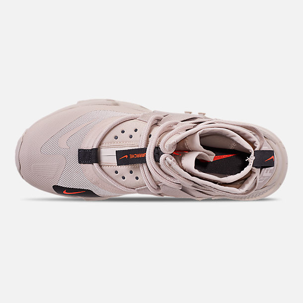 Top view of Men's Nike Huarache Gripp Casual Shoes in Desert Sand/String/Hyper Crimson