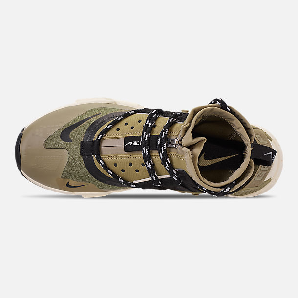 c1c36c6b6a4a45 Top view of Men s Nike Huarache Gripp Casual Shoes in Neutral  Olive Black Light