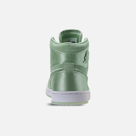 Back view of Women's Air Jordan Retro 1 High OG SOH Casual Shoes in Mint Foam/White/Metallic Gold