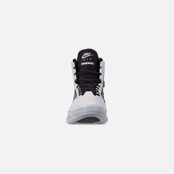 6449b25a Front view of Men's Nike Air Max 720 Satrn Basketball Shoes in White/Black/