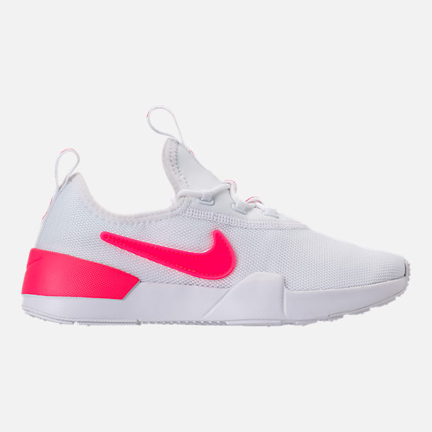 Right view of Girls' Grade School Nike Ashin Modern SE Casual Shoes in White/Racer Pink/Rush Pink