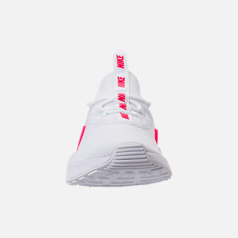 Front view of Girls' Grade School Nike Ashin Modern SE Casual Shoes in White/Racer Pink/Rush Pink