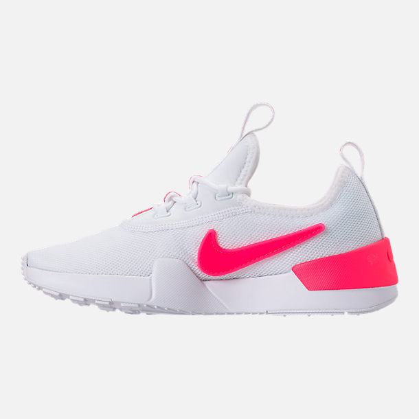 Left view of Girls' Grade School Nike Ashin Modern SE Casual Shoes in White/Racer Pink/Rush Pink