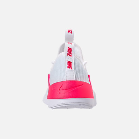 Back view of Girls' Grade School Nike Ashin Modern SE Casual Shoes in White/Racer Pink/Rush Pink
